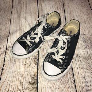 Kids black converse sneakers